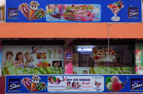 Ice cream parlour in marthandam